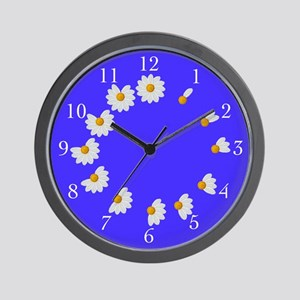 Daisy Petal Blue Wall Clock