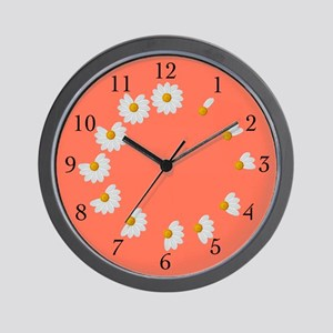Daisy Petal Wall Clock Orange