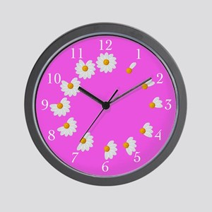 Hot Pink Daisy Clock