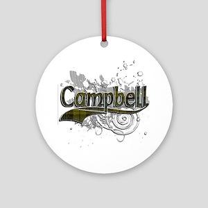 Campbell Tartan Grunge Ornament (Round)