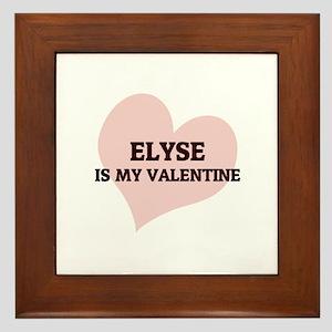 Elyse Is My Valentine Framed Tile