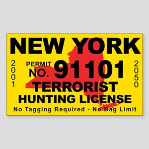 New York Terrorist Hunting License Sticker