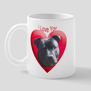 Valentines Staffordshire Bull Mug