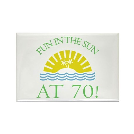 Fun 70th Rectangle Magnet (10 pack)