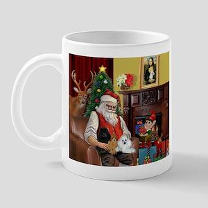 Santa's Poodle Trio Mug