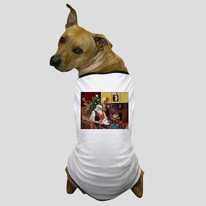 Santa's Poodle Trio Dog T-Shirt