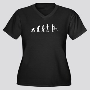 Artist Evolution Women's Plus Size V-Neck Dark T-S