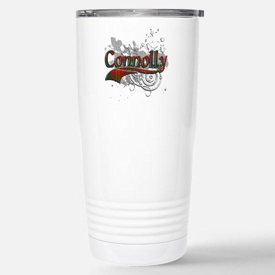 Connolly Tartan Grunge Stainless Steel Travel Mug