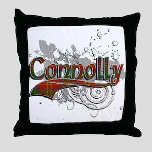 Connolly Tartan Grunge Throw Pillow