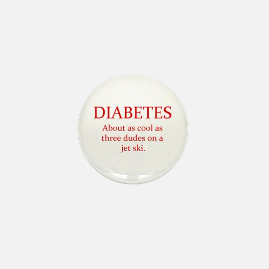 Unique Cure diabetes Mini Button