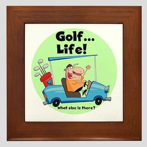 Golf is Life Framed Tile