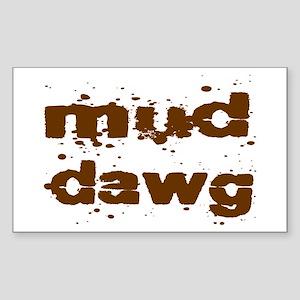 Mud Dawg Sticker (Rectangle)