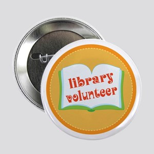 "Book Library Volunteer 2.25"" Button"