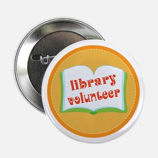 "Book Library Volunteer 2.25"" Button"