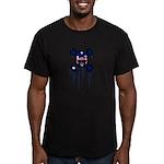 Australia Punk Skull Men's Fitted T-Shirt (dark)
