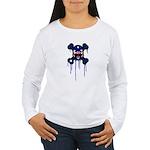 Australia Punk Skull Women's Long Sleeve T-Shirt