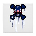 Australia Punk Skull Tile Coaster