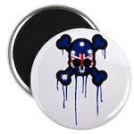 Australia Punk Skull Magnet