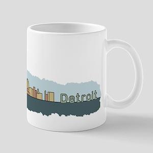 Detroit Skyline - Color Mug