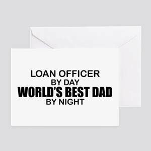 World's Best Dad - Loan Officer Greeting Cards (Pk