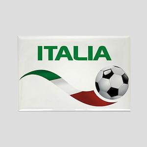 Soccer ITALIA Rectangle Magnet