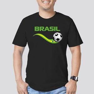 Soccer BRASIL Men's Fitted T-Shirt (dark)