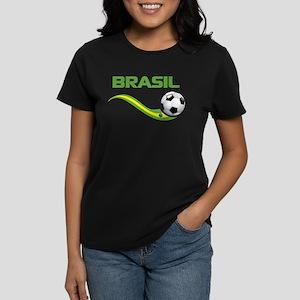 Soccer BRASIL Women's Dark T-Shirt