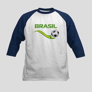 Soccer BRASIL Kids Baseball Jersey