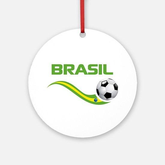 Soccer BRASIL Ornament (Round)