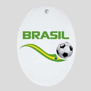 Soccer BRASIL Ornament (Oval)