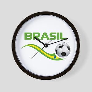 Soccer BRASIL Wall Clock