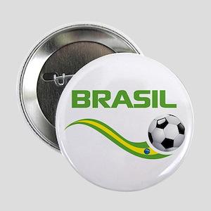"""Soccer BRASIL 2.25"""" Button"""