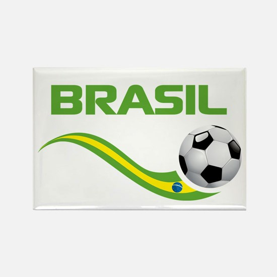 Soccer BRASIL Rectangle Magnet