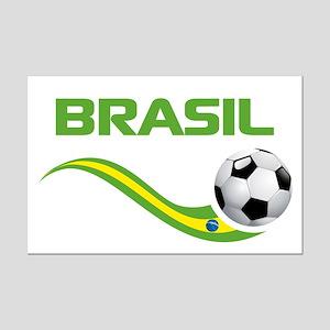 Soccer BRASIL Mini Poster Print