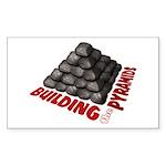 Building the Pyramids Sticker (Rectangle)