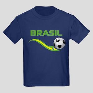 Soccer BRASIL Kids Dark T-Shirt