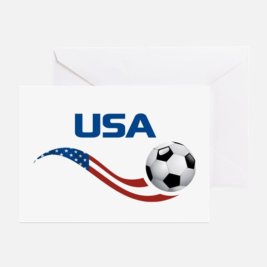 Soccer USA Greeting Cards (Pk of 20)