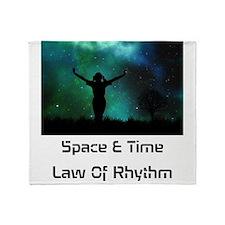 Space & Time Law Of Rhythm Throw Blanket