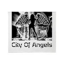 City Of Angels Throw Blanket