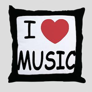 I heart music Throw Pillow