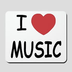 I heart music Mousepad