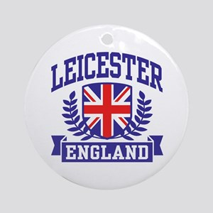 Leicester England Ornament (Round)