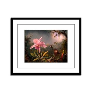 Victorian Orchid with Humming Framed Panel Print