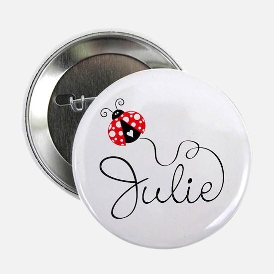"Ladybug Julie 2.25"" Button"