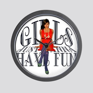 Girls Just Wanna Have Fun Wall Clock
