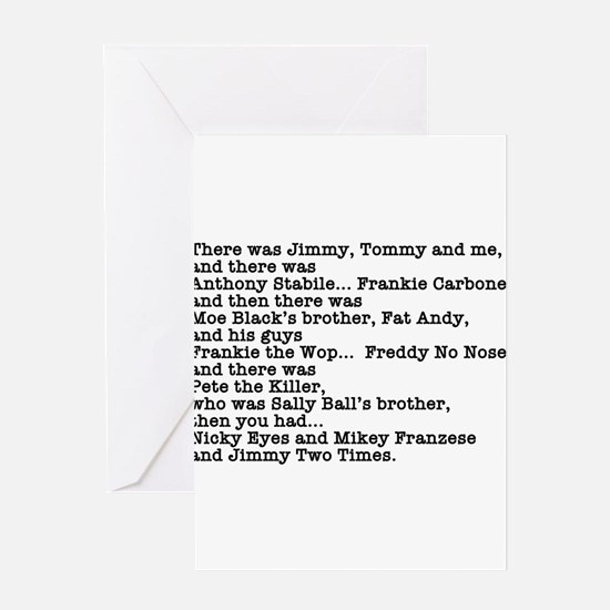 Goodfellas Quote Greeting Card