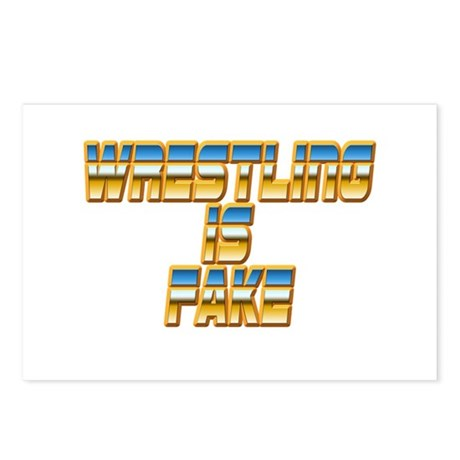 Wrestling is Fake Postcards (Package of 8)