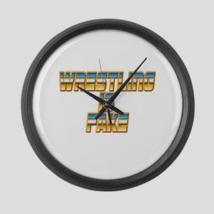 Wrestling is Fake Large Wall Clock