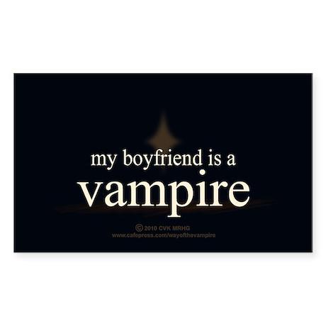 Boyfriend Vampire Eclipse Sticker (Rectangle)