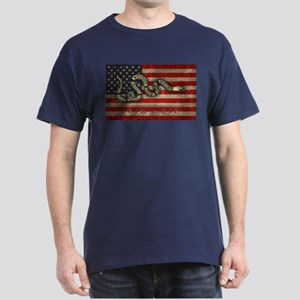 Join, Or Die -Flag Dark T-Shirt